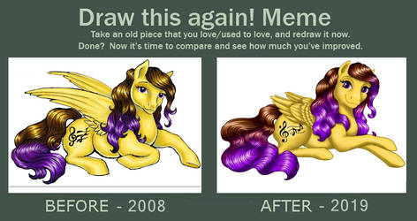 Draw This Again Meme: MustBeJewel 10 years by MustBeJewel