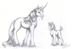 Airport unicorns by MustBeJewel