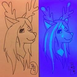 School Sketches: UV Stuff (Leona) by RcknRainbow