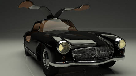 Mercedes 300 SL finished at last by 5aliiim