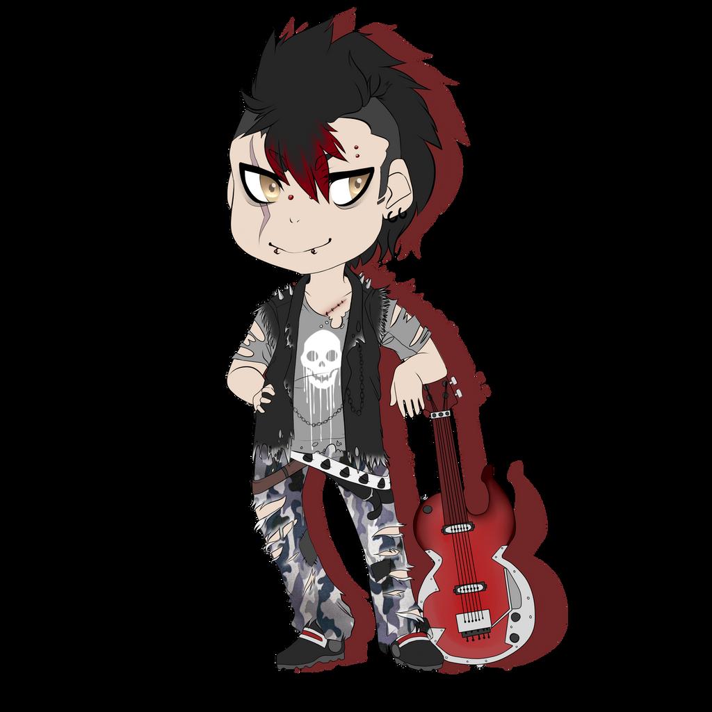 Punk Chibi by LonewolfTerror