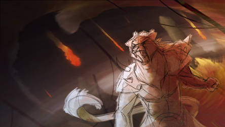 Charr Sketch - GW2 by SwankyShadow