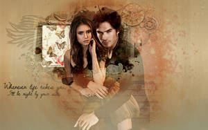 TVD Wallpaper - Delena by e-transitions