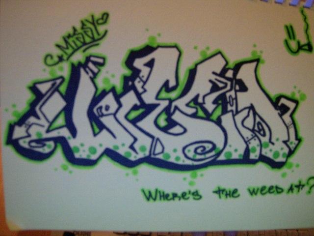 Graffiti Drawings Of Weed