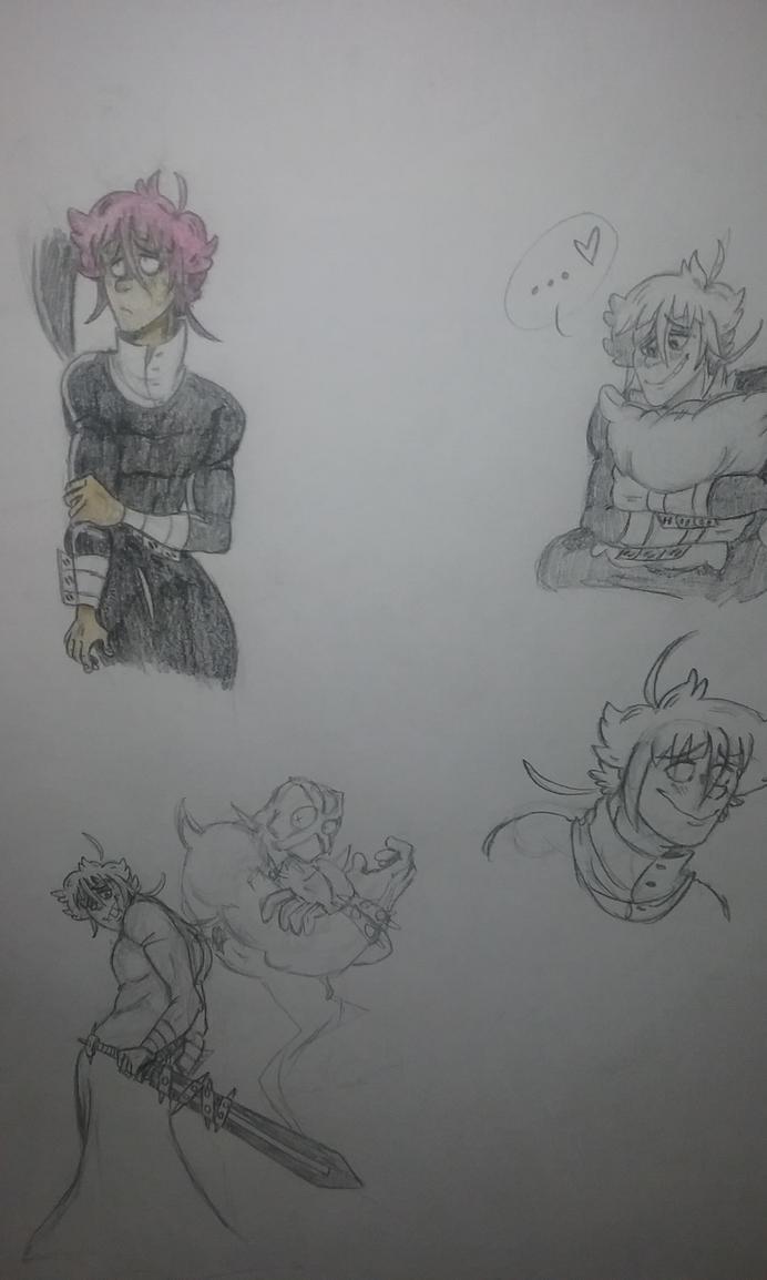 Soul Eater - Crona doodles by TheFlaimingHotCheeto