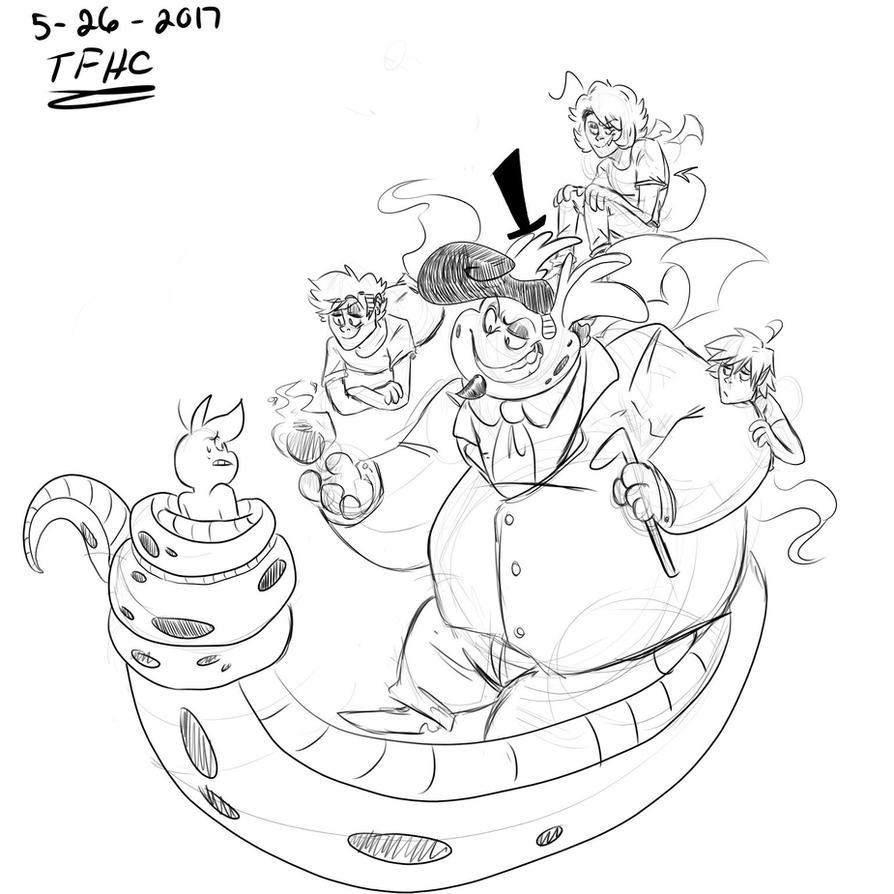 Ahh, Random Doodle by TheFlaimingHotCheeto