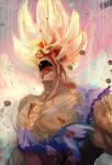 SSJ2 Goku fanart by Daidus