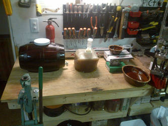 brewing on the reloading bench