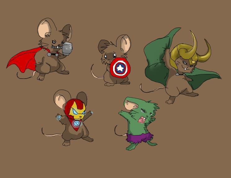 Avenger mice by Arcane-Panda