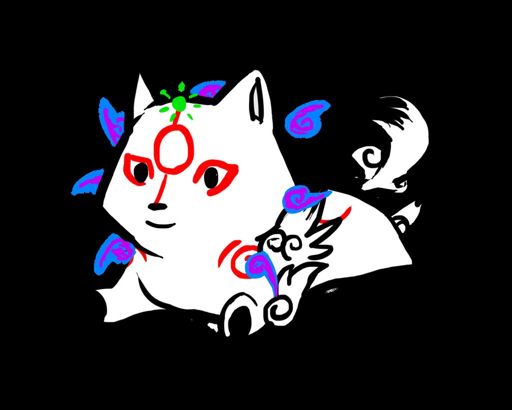 Okami Chibi by Arcane-Panda