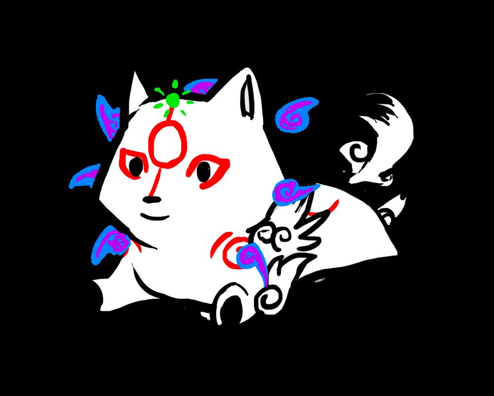 Okami Chibi by HyperactiveInnocence
