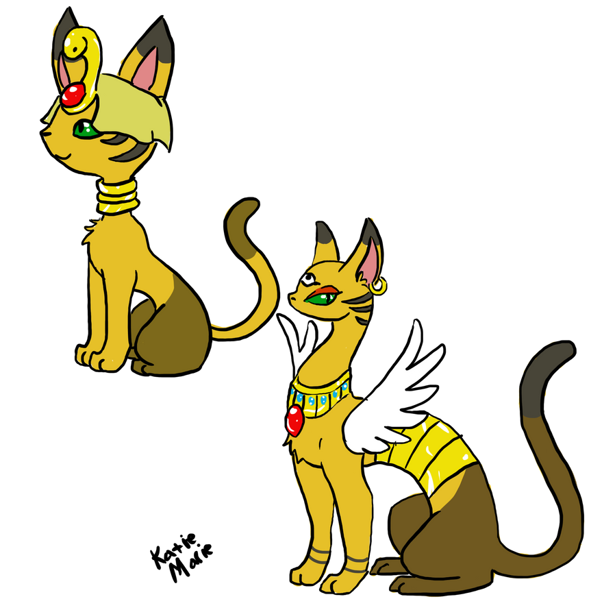 Egypten and Egypurr by HyperactiveInnocence