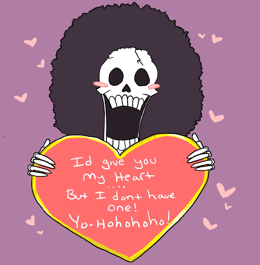 Brook's skulljoke Valentine by HyperactiveInnocence