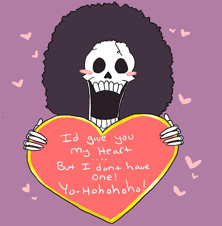 Brook's skulljoke Valentine by Arcane-Panda