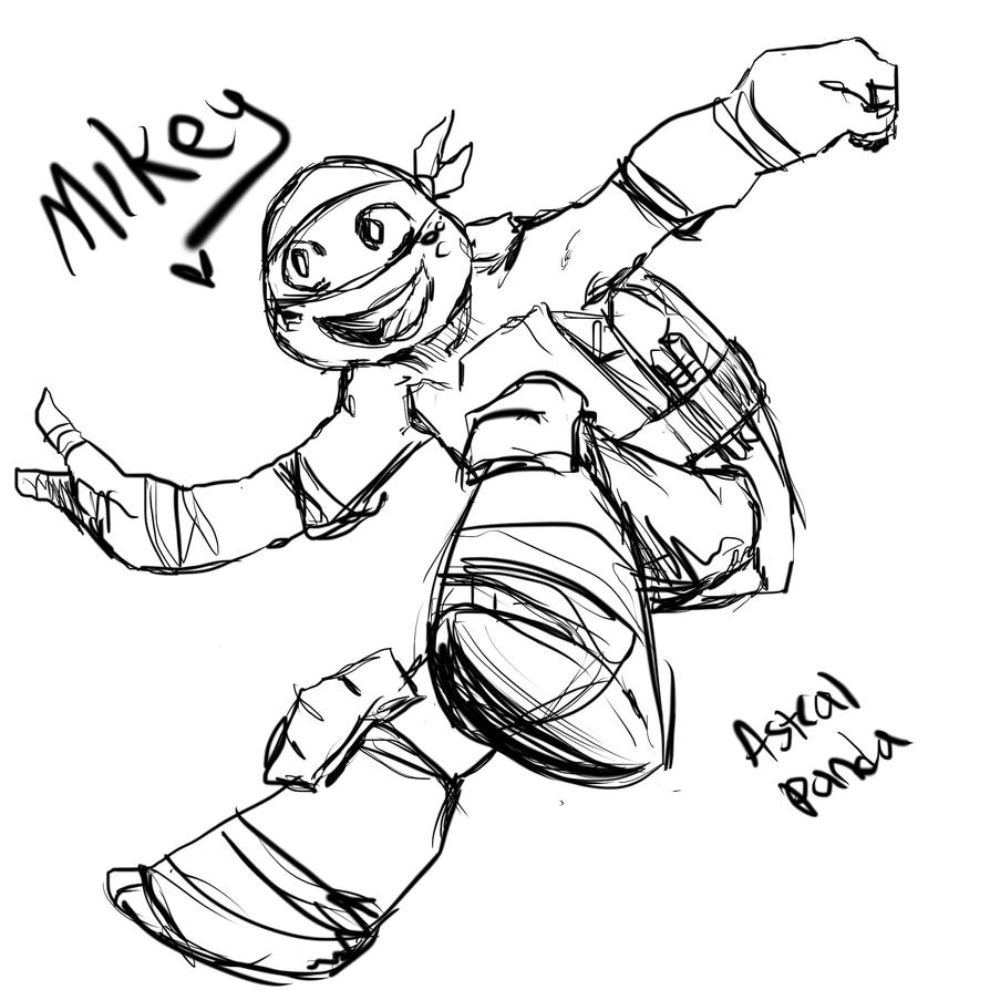 TMNT2012 Mikey by Arcane-Panda