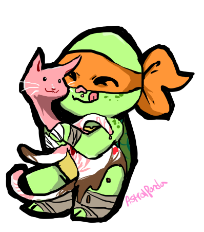 Mikey and Icecream kitty by Arcane-Panda