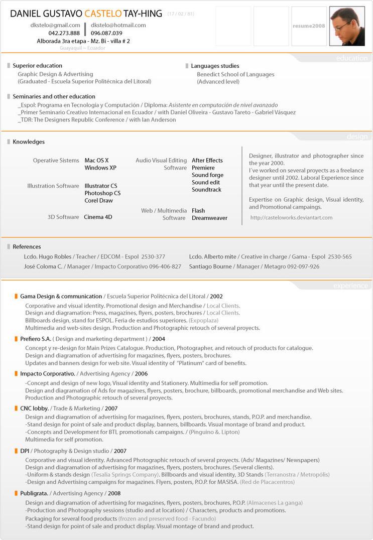 Resume 2008 by casteloworks