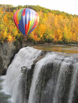 Hot Air Balloon Over Letchworth