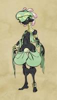Pokemon Gijinka: Cradily by nezumousii