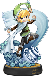 Super Amiibo Windy Toon Link by J-Stein