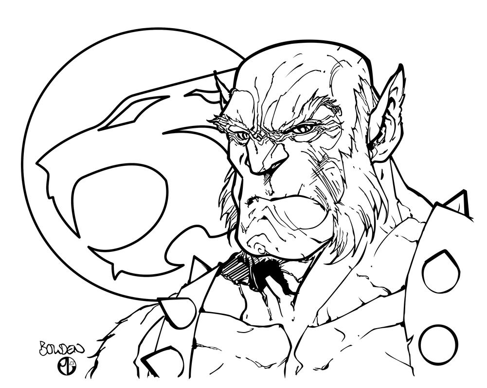 panthro inks by staminaboy on deviantart