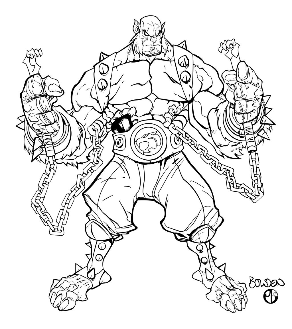 panthro full character inks by staminaboy panthro full character inks by staminaboy - Thunder Cats Coloring Book Pages
