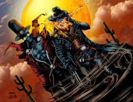 Gunslinger Spawn and Western Ghost Rider - Colors