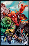 Avenging Spiderman Promo Colors