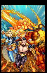 Ultimate FF4 vs X-Men by Ebas Colors