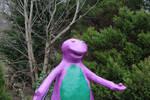 Barney Trippy On Shrooms