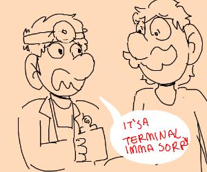 Dr Mario tells Luigi the truth by DelightfulDiamond7