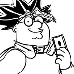 Yu-Gi-Oh Peter Griffin