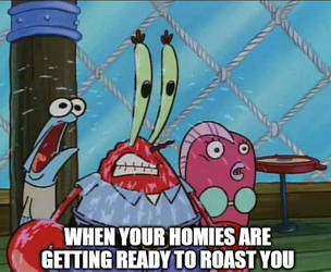 Mr Krabs Sweating Meme by DelightfulDiamond7
