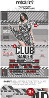 Caution flyer poster template