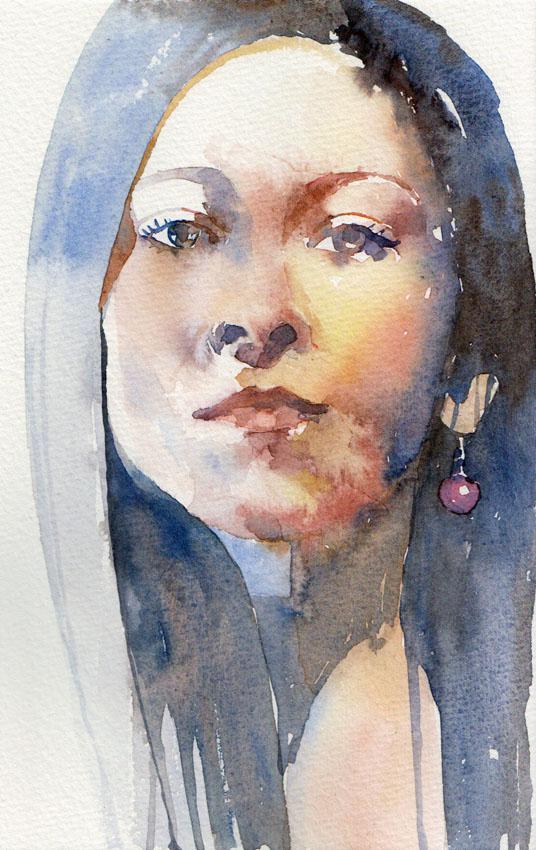 Blue Portrait by yelou