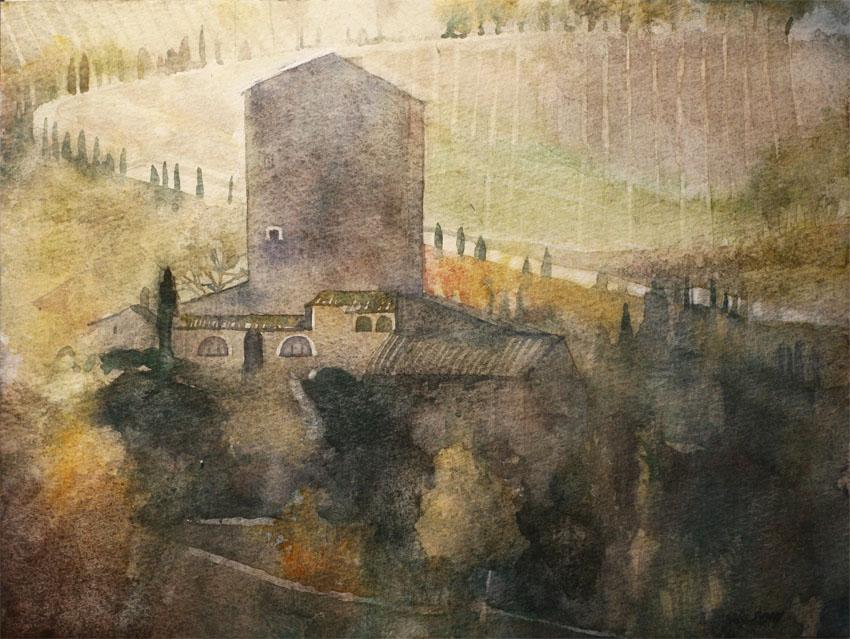 Foggy Tuscany by yelou