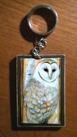 Barn Owl Key Charm