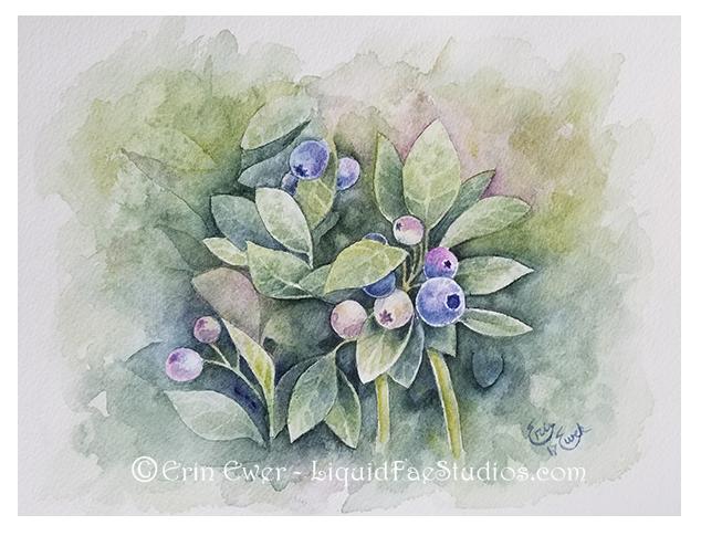 Blueberries by LiquidFaeStudios
