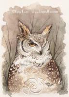 Great Horned Owl by LiquidFaeStudios