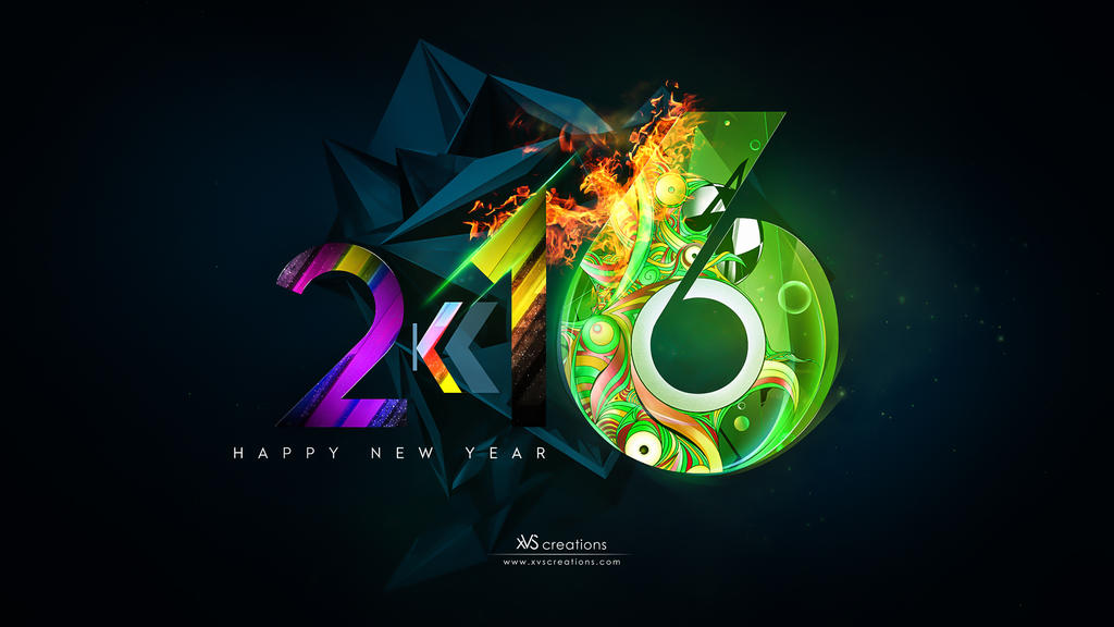 happy new year 2k16 2016 by xvsvinay