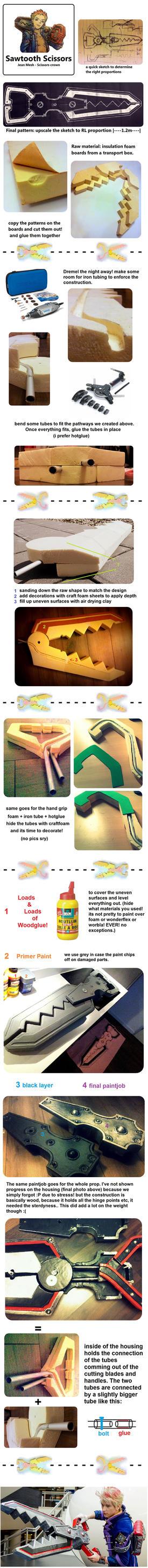 Gene Mesh sawtooth scissors tutorial by Kireus