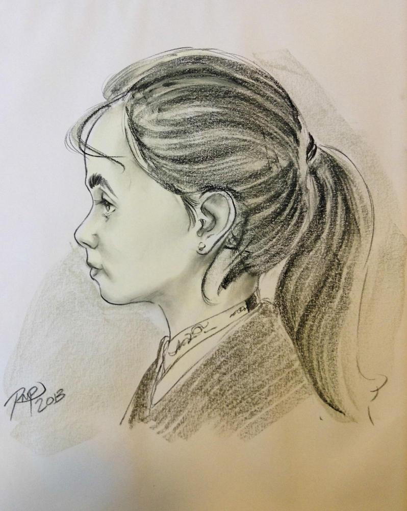 side profile of a girl by darknight06 on deviantart