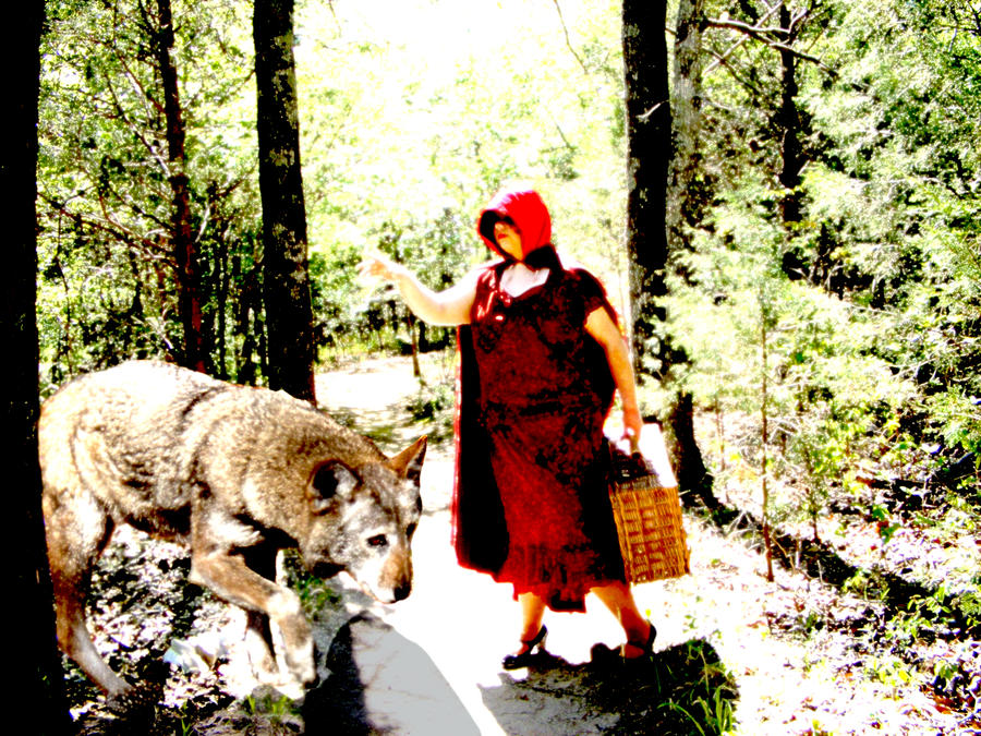 red riding hood wolf. Red Riding Hood with Wolf by