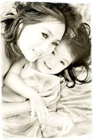 Infrared: Mother and Child by brumie