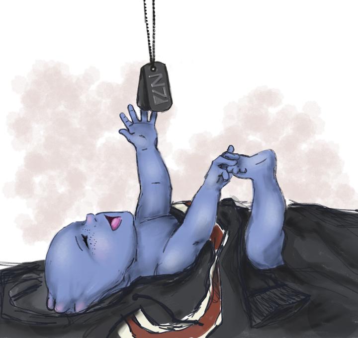 Asari Baby Blue Baby in N7 Hoodie by