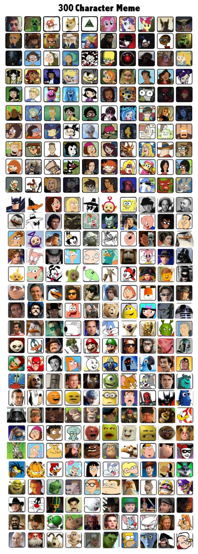 WRXMan15's 300 Favorite Characters by WRXMan15