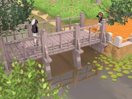 Bridge in the park by tomoP