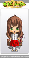 ChibiMaker Monika by LickleDuckie