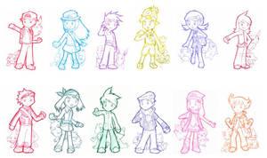 Llaveros pokemon by yoshiky
