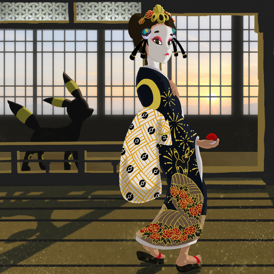 Kimono Girl Zuki by yoshiky